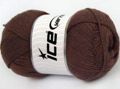Lot of 4 x 100gr Skeins Ice Yarns LORENA (50% Cotton) Yarn Rose Brown