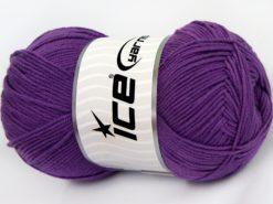Lot of 4 x 100gr Skeins Ice Yarns LORENA (50% Cotton) Hand Knitting Yarn Purple