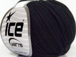 Lot of 8 Skeins Ice Yarns BABY SUMMER DK (50% Cotton) Hand Knitting Yarn Black