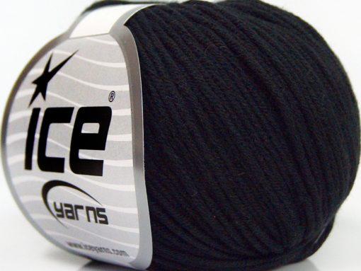 Lot of 8 Skeins Ice Yarns BABY SUMMER DK (50% Cotton) Hand Knitting Yarn Black