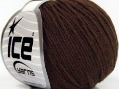Lot of 8 Skeins Ice Yarns BABY SUMMER DK (50% Cotton) Hand Knitting Yarn Brown