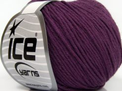 Lot of 8 Skeins Ice Yarns BABY SUMMER DK (50% Cotton) Hand Knitting Yarn Purple