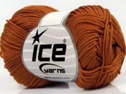 Lot of 6 Skeins Ice Yarns GIZA COTTON Hand Knitting Yarn Caramel
