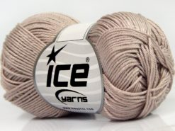 Lot of 6 Skeins Ice Yarns GIZA COTTON Hand Knitting Yarn Dark Beige