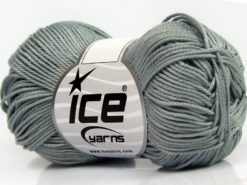Lot of 6 Skeins Ice Yarns GIZA COTTON Hand Knitting Yarn Grey