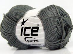 Lot of 6 Skeins Ice Yarns GIZA COTTON Hand Knitting Yarn Dark Grey