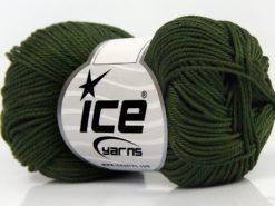 Lot of 6 Skeins Ice Yarns GIZA COTTON Hand Knitting Yarn Khaki