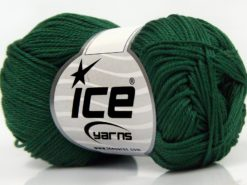 Lot of 6 Skeins Ice Yarns GIZA COTTON Hand Knitting Yarn Jungle Green