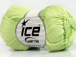 Lot of 6 Skeins Ice Yarns GIZA COTTON Hand Knitting Yarn Light Green