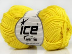 Lot of 6 Skeins Ice Yarns GIZA COTTON Hand Knitting Yarn Yellow