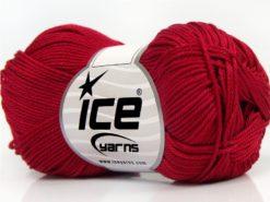 Lot of 6 Skeins Ice Yarns GIZA COTTON Hand Knitting Yarn Dark Fuchsia