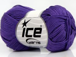 Lot of 6 Skeins Ice Yarns GIZA COTTON Hand Knitting Yarn Lavender
