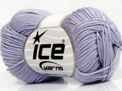 Lot of 6 Skeins Ice Yarns GIZA COTTON Hand Knitting Yarn Light Lilac