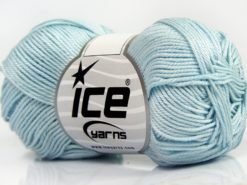 Lot of 6 Skeins Ice Yarns GIZA COTTON Hand Knitting Yarn Light Turquoise