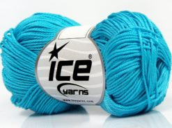 Lot of 6 Skeins Ice Yarns GIZA COTTON Hand Knitting Yarn Turquoise