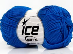 Lot of 6 Skeins Ice Yarns GIZA COTTON Hand Knitting Yarn Blue