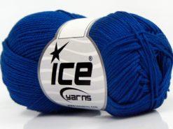 Lot of 6 Skeins Ice Yarns GIZA COTTON Hand Knitting Yarn Royal Blue