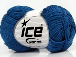 Lot of 6 Skeins Ice Yarns GIZA COTTON Hand Knitting Yarn Jeans Blue