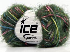 Lot of 8 Skeins Ice Yarns PRIMAVERA Yarn Dark Green Pink Blue White