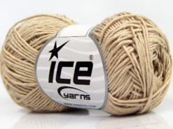 Lot of 8 Skeins Ice Yarns BABY BAMBOO (50% Bamboo) Hand Knitting Yarn Beige