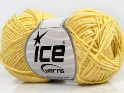 Lot of 8 Skeins Ice Yarns BABY BAMBOO (50% Bamboo) Yarn Light Yellow