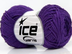 Lot of 8 Skeins Ice Yarns BABY BAMBOO (50% Bamboo) Hand Knitting Yarn Purple