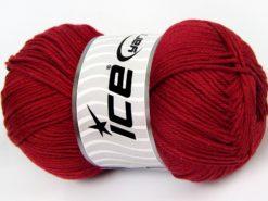 Lot of 4 x 100gr Skeins Ice Yarns BABY COTTON 100GR (100% Giza Cotton) Yarn Dark Red