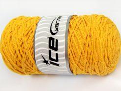 250 gr ICE YARNS MACRAME COTTON (100% Cotton) Hand Knitting Yarn Dark Yellow