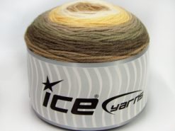 Lot of 2 x 150gr Skeins Ice Yarns CAKES WOOL DK (30% Wool) Yarn Brown Shades Cream Shades