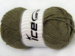 Lot of 4 x 100gr Skeins Ice Yarns LORENA (50% Cotton) Yarn Light Khaki