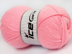 Lot of 4 x 100gr Skeins Ice Yarns SUPER BABY Hand Knitting Yarn Candy Pink