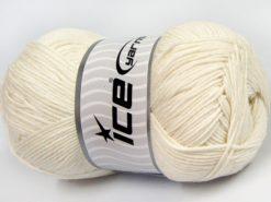 Lot of 4 x 100gr Skeins Ice Yarns LORENA (50% Cotton) Hand Knitting Yarn Ecru
