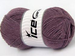 Lot of 4 x 100gr Skeins Ice Yarns LORENA (50% Cotton) Yarn Light Lavender