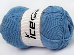 Lot of 4 x 100gr Skeins Ice Yarns LORENA (50% Cotton) Yarn Light Jeans Blue