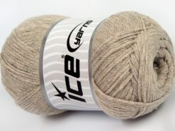Lot of 4 x 100gr Skeins Ice Yarns NATURAL COTTON AIR (100% Cotton) Yarn Mink