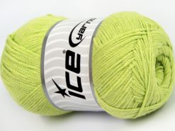 Lot of 4 x 100gr Skeins Ice Yarns NATURAL COTTON AIR (100% Cotton) Yarn Light Green