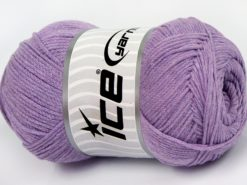 Lot of 4 x 100gr Skeins Ice Yarns NATURAL COTTON AIR (100% Cotton) Yarn Lavender