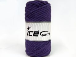 250 gr ICE YARNS NATURAL COTTON JUMBO (100% Cotton) Hand Knitting Yarn Purple