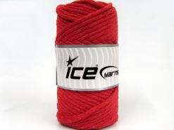 250 gr ICE YARNS NATURAL COTTON JUMBO (100% Cotton) Hand Knitting Yarn Red