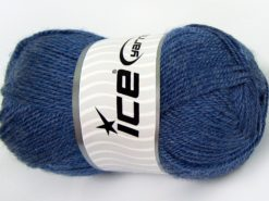 Lot of 4 x 100gr Skeins Ice Yarns DORA Hand Knitting Yarn Jeans Blue