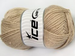 Lot of 4 x 100gr Skeins Ice Yarns DORA Hand Knitting Yarn Light Beige