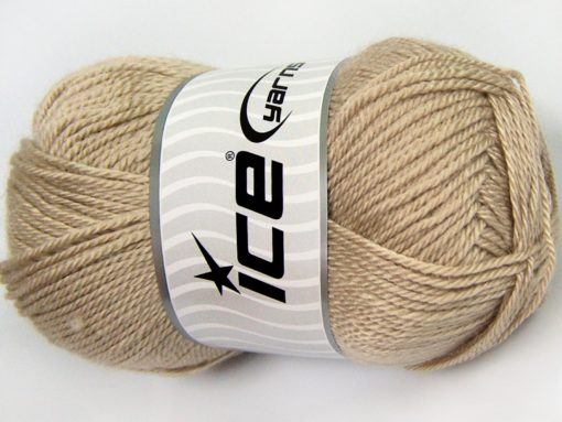 Lot of 4 x 100gr Skeins Ice Yarns DORA Hand Knitting Yarn Light Beige