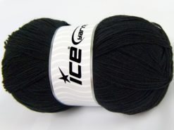 Lot of 4 x 100gr Skeins Ice Yarns KRISTAL Hand Knitting Yarn Black