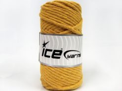 250 gr ICE YARNS NATURAL COTTON JUMBO (100% Cotton) Yarn Dark Yellow