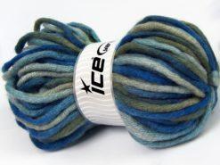 Lot of 3 x 100gr Skeins Ice Yarns SALE WINTER (20% Wool) Yarn Blue Shades