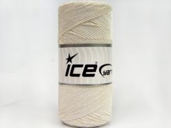 Lot of 2 x 200gr Skeins Ice Yarns SHINY COTTON (30% Cotton) Yarn Ecru