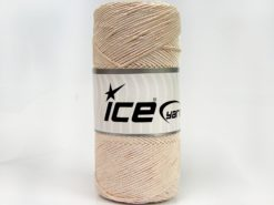 Lot of 2 x 200gr Skeins Ice Yarns SHINY COTTON (30% Cotton) Yarn Cream