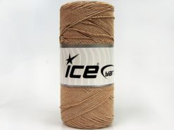 Lot of 2 x 200gr Skeins Ice Yarns SHINY COTTON (30% Cotton) Yarn Light Brown