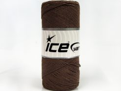 Lot of 2 x 200gr Skeins Ice Yarns SHINY COTTON (30% Cotton) Yarn Brown