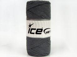 Lot of 2 x 200gr Skeins Ice Yarns SHINY COTTON (30% Cotton) Yarn Grey